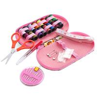 针线盒 便携式旅行针线包大号小收纳盒家用缝纫工具迷你针线盒套装 颜色随机