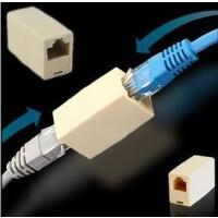 优质镀金RJ45网线连接器 网络双通头直通头 网线对接头 网络直通