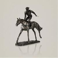 家居饰品摆件 赛马骑士摆件 样板房摆件欧式美式 古典书房摆件