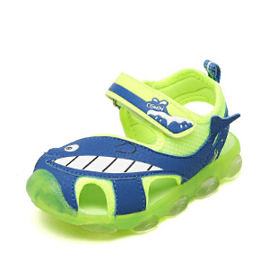 奥思文/OSWIN 鞋柜童鞋休闲凉鞋透气耐磨防滑魔术贴包头男童鞋