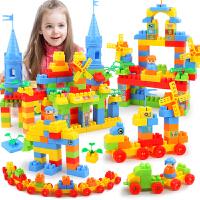 城堡儿童颗粒塑料积木宝宝幼儿园玩具男女孩拼插1-3-6周岁