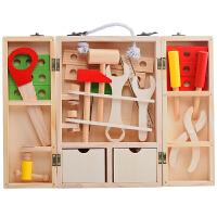 儿童仿真儿童工具箱过家家玩具套装男孩维修木制修理木质智力