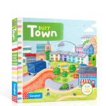 英文原版绘本 Busy系列 Busy Town 忙碌的城镇 机关操作纸板书 边玩边学 锻炼宝宝手指灵活 幼儿认知启蒙学