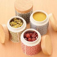 密封罐陶瓷调味罐调料罐茶叶收纳罐