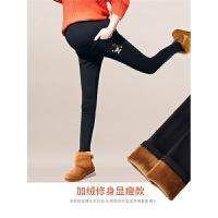 孕妇裤子长裤冬季加绒打底裤孕妇冬装托腹休闲运动裤保暖棉裤