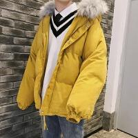 2018新款冬季情侣外套面包服韩版保暖帅气加厚棉衣棉袄男潮流