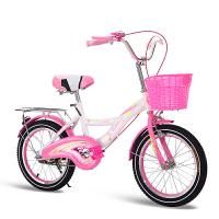 儿童自行车20寸4-16岁16寸18寸女童小孩学生公主式脚踏单车 高贵粉+可伸缩车把 +镀锌后座架+无礼包