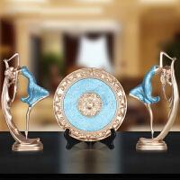 欧式创意树脂工艺跳舞女三件套电视柜家居软装饰摆件客厅结婚礼品