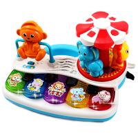幼儿多功能音乐琴动物声旋转木马乐园玩具琴1-3岁早教益智玩具
