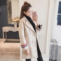 2017女秋冬装新款韩版毛呢大衣加厚宽松修身显瘦中长款外套时尚潮
