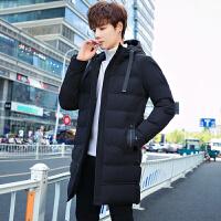 棉衣男中长款男冬季外套韩版潮流男生保暖棉袄学生长款羽绒棉服