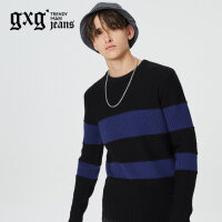 gxg.jeans男装秋冬新品青年圆领套头毛衫针织衫潮64620159