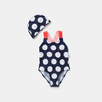 【2件4折】迷你巴拉巴拉儿童泳装女童波点泳衣夏季新款泳装女孩连体泳衣泳帽