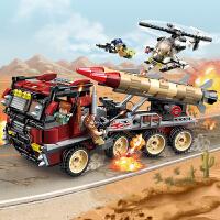 启蒙3207 维和部队系列超级武器现身 积木拼装儿童玩具