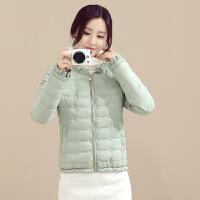 慈姑冬装韩版羽绒女修身显瘦短款纯色外套轻薄棉衣小棉袄