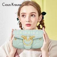 【1件3折,到手价:119.7元】Clous KrauseCK2019新款女包迷你小方包单肩包圆环菱格链条包蜜蜂包简约