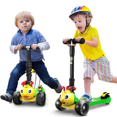儿童滑板车男女宝宝小孩溜溜滑滑车四轮可坐1-2-3-5岁
