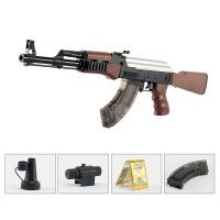 ak47巴雷特枪98k儿童绝地求生玩具枪m249金属可发射八倍镜可发射仿真抛壳m416突击步抢水晶弹