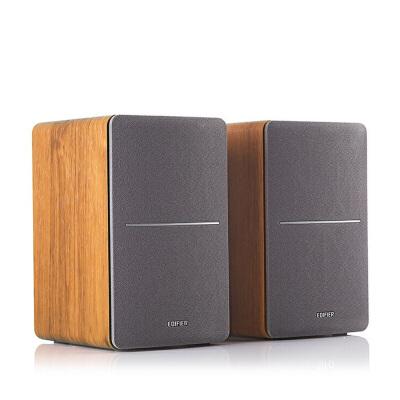 Edifier/漫步者 R1200TII 重低音多媒体电脑音箱2.0木质书架音响 木质箱体 低频厚重 高频细腻
