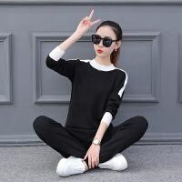 时尚休闲运动套装女春秋季2018新款韩版小脚裤套头卫衣两件套显瘦
