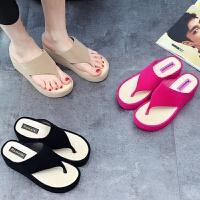 拖鞋女夏室外厚底夏天拖鞋新款凉拖鞋防滑时尚外穿可爱松糕鞋