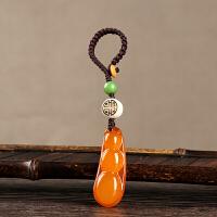 汽车钥匙挂件平安豆玛瑙挂件车钥匙扣女手工编织钥匙扣创意小挂件
