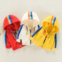 婴儿春装0-1-3岁女童休闲风衣男童新款纯棉幼儿童装宝宝春秋外套