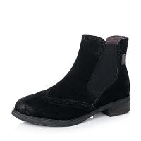 BATA/拔佳牛皮女短靴AJ462CD6