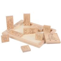 儿童三国华容道木制拼图古典智力通关游戏老少皆宜玩具
