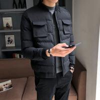 2018新款韩版潮流短款棉衣男冬季外套加厚修身帅气冬装棉袄子