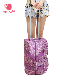 【2件2.9折,1件3.5折】momogirl拉杆包女韩版潮旅行包袋大容量手提登机行李箱包M8063