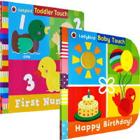 Ladybird Baby Touch Happy Birthday 3册 儿童启蒙纸板触摸书