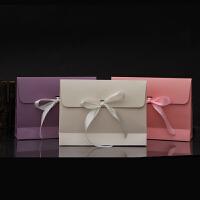 大丝巾信封礼盒 真丝包装袋 浅色丝带披肩围巾礼品盒21号 大号28x9x21