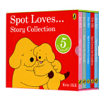 英文原版 Eric Hill 经典作品 Spot Loves 小玻纸板书 爸爸 妈妈 爷爷 奶奶 朋友5册盒装 亲子互