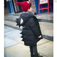 儿童棉衣男童冬装2-3-4-5-6-7岁潮加厚9中长款羽绒恐龙棉袄女