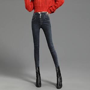 【必抢榜单】高腰牛仔裤女2020春季新款显高显瘦百搭黑色弹力紧身小脚长裤子