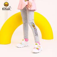 【大促价:79】B.duck小黄鸭童装女童打底裤女宝宝儿童裤子2020春秋薄款外穿长裤BF1158909