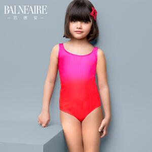 范德安新款儿童泳衣 中大童可爱宝宝专业训练女童三角连体游泳衣