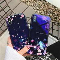 苹果7手机壳iPhone6玻璃壳蓝光8plus软边6sp创意x个性唯美新款女
