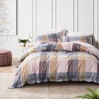 富安娜家纺圣之花床单被套四件套全棉纯棉学生宿舍床单人床上用品
