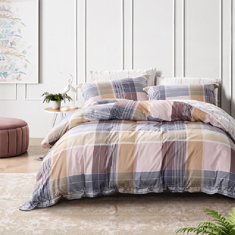 【1件5折】富安娜家纺圣之花床单被套四件套全棉纯棉学生宿舍床单人床上用品
