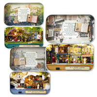 智趣屋diy小屋模型手工盒子剧场拼装房子创意玩具