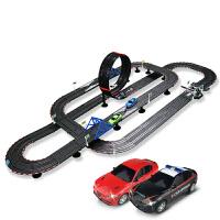 跑道儿童男孩玩具双人轨道电动遥控路轨道赛汽车套装