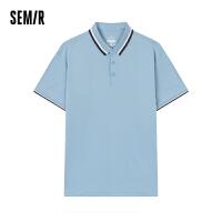 森马短袖T恤男2021夏季新款POLO衫男士翻领体恤潮流有领衣服韩版