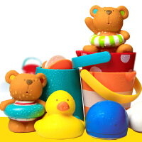 玩具男女孩花洒浴缸室 儿童戏水喷水玩偶水泵套装宝宝婴儿洗澡