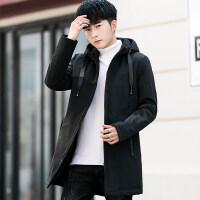 棉衣男士外套冬季2018新款韩版潮流加厚中长款风衣男冬装羽绒