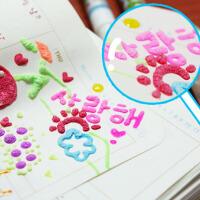 创意爆米花笔 泡泡笔 文具日记相册DIY创意工具 6支装