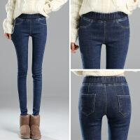 加绒加厚打底裤女外穿牛仔秋冬季保暖显瘦紧身高腰小脚棉裤女裤子