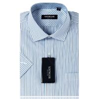 YOUNGOR雅戈尔蓝色条纹短袖衬衫SNP13302-22