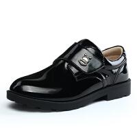 16.5cm~25.5cm巴布豆童鞋 男童皮鞋2017春季新款男童鞋学生表演鞋儿童黑色皮鞋